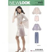 6563 New Look Pattern: New Look Flare Sleeve Top Pattern